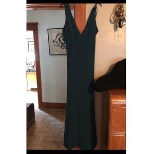 Teal sleeveless dress